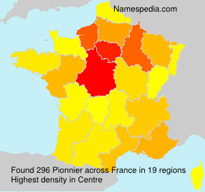 Surname Pionnier in France