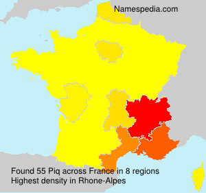 Surname Piq in France