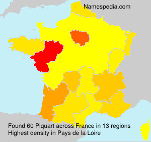 Surname Piquart in France