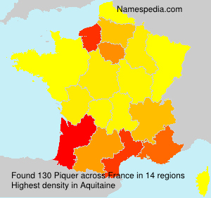 Surname Piquer in France
