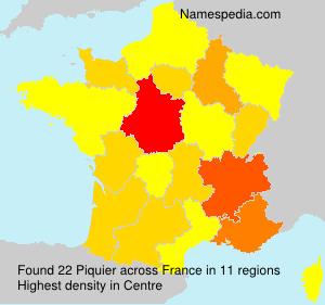 Surname Piquier in France