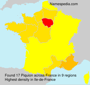 Surname Piquion in France