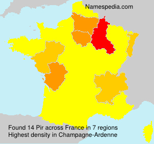 Surname Pir in France
