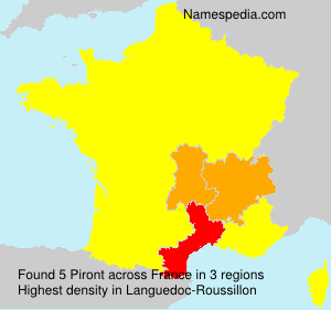 Surname Piront in France