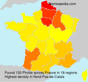 Surname Pirotte in France