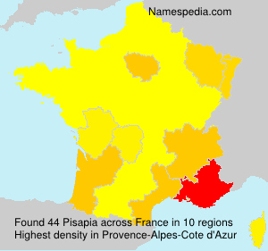 Surname Pisapia in France