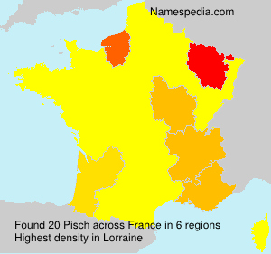 Surname Pisch in France