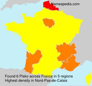 Surname Pisko in France