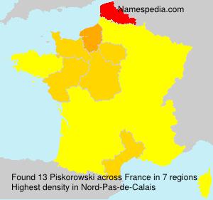 Familiennamen Piskorowski - France