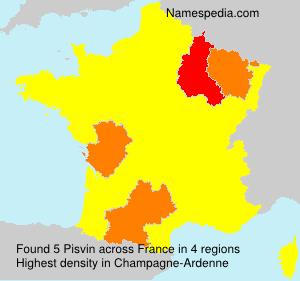 Surname Pisvin in France