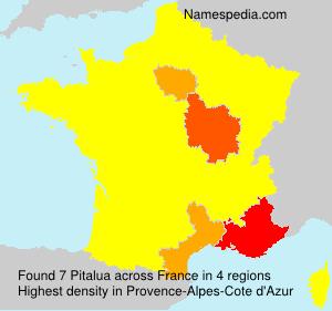 Familiennamen Pitalua - France