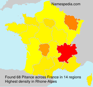 Surname Pitance in France