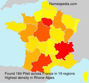 Familiennamen Pitet - France