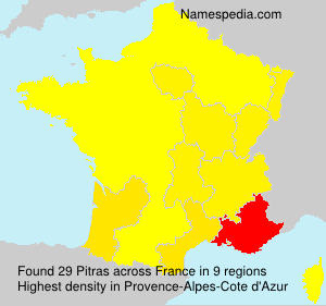 Surname Pitras in France