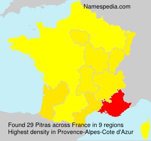 Surname Pitras in France
