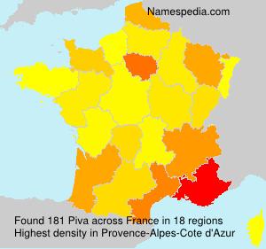 Surname Piva in France