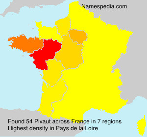 Surname Pivaut in France