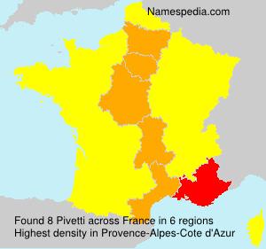 Surname Pivetti in France