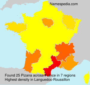 Surname Pizana in France