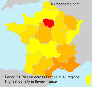Surname Pizarro in France