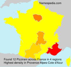 Surname Pizzirani in France