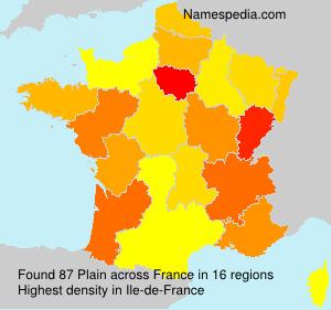 Surname Plain in France