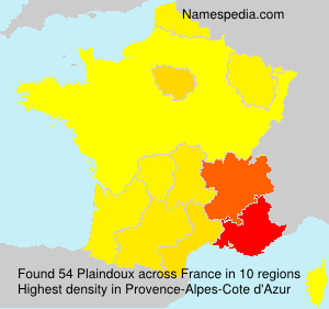 Surname Plaindoux in France