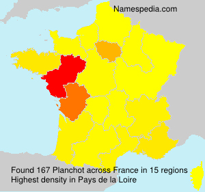 Surname Planchot in France