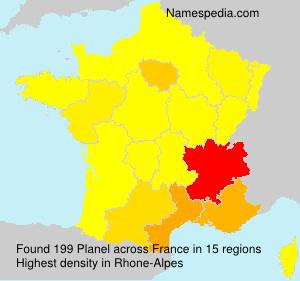 Familiennamen Planel - France