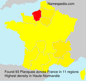 Surname Planquais in France