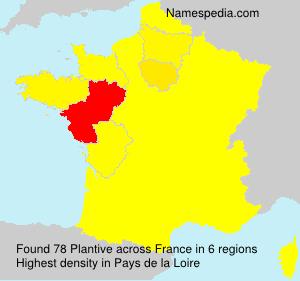 Surname Plantive in France