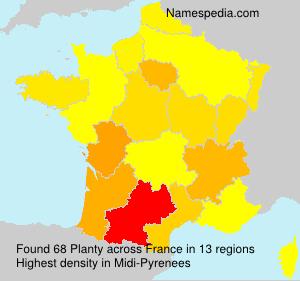 Familiennamen Planty - France