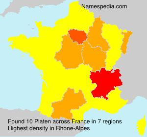 Surname Platen in France