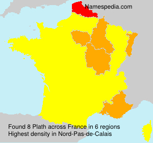 Surname Plath in France