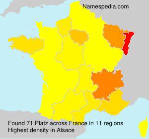 Surname Platz in France