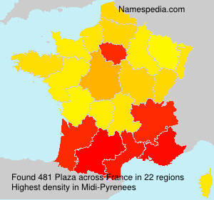 Surname Plaza in France