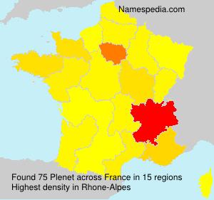 Surname Plenet in France