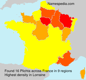 Surname Plichta in France