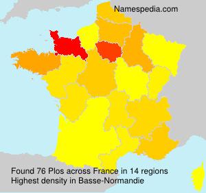 Surname Plos in France