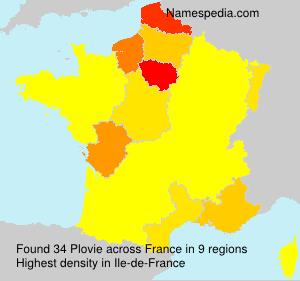 Surname Plovie in France