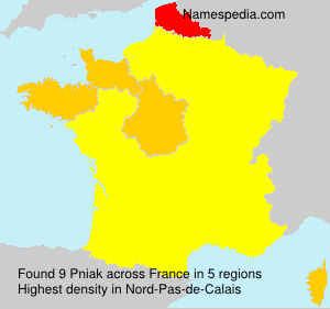 Familiennamen Pniak - France