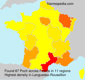Surname Poch in France