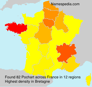 Familiennamen Pochart - France