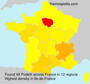 Familiennamen Podetti - France