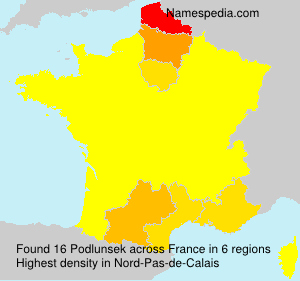 Surname Podlunsek in France
