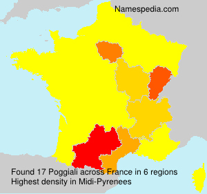 Surname Poggiali in France