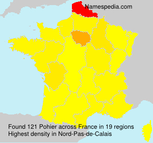 Surname Pohier in France