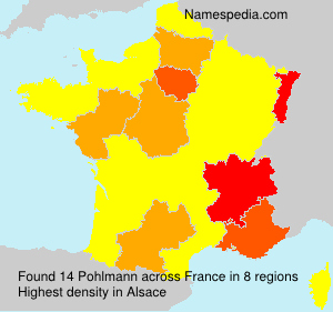 Surname Pohlmann in France