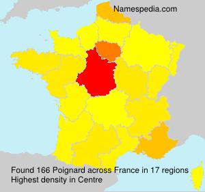 Familiennamen Poignard - France