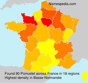Surname Poincelet in France